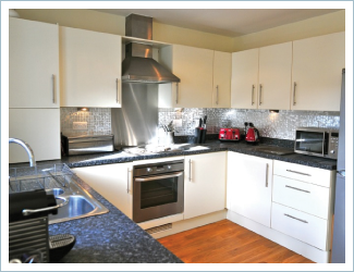 Kitchen of The Light House Pet Friendly Holiday Cottage Camber Sands