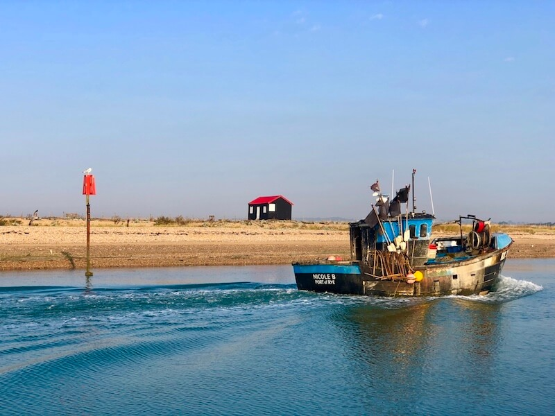 rye harbour nature reserve fishing boat