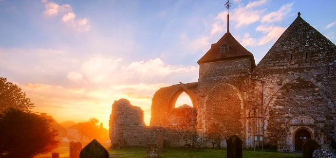The Old Church at Winchelsea, Sussex, England