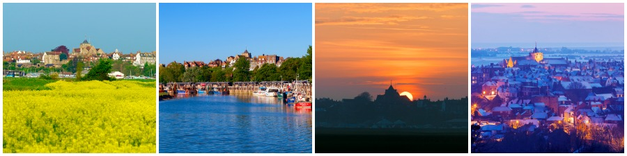 Rye only 5 miles from our camber sands holiday cottages