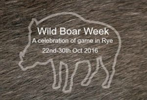Rye Wild Boar Week 22nd – 30th October
