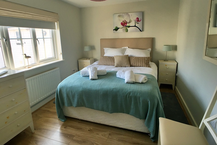 Beachcomber master bedroom with double bed