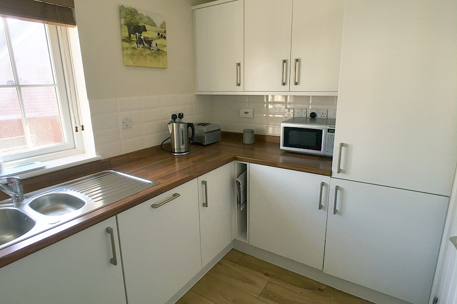 Beachcomber kitchen with microwave