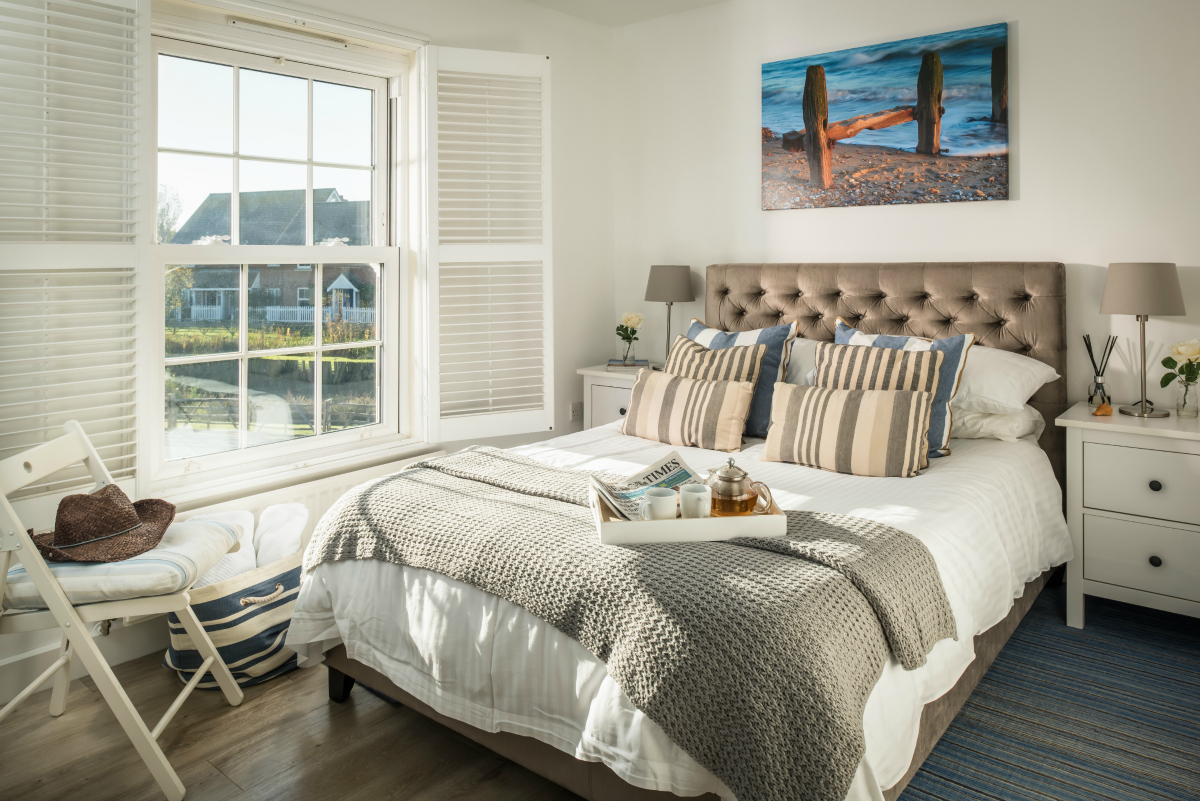Beach Boutique master bedroom