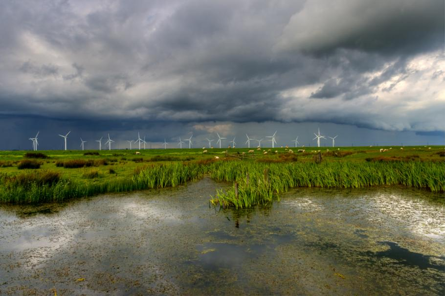 incoming storm over the marsh