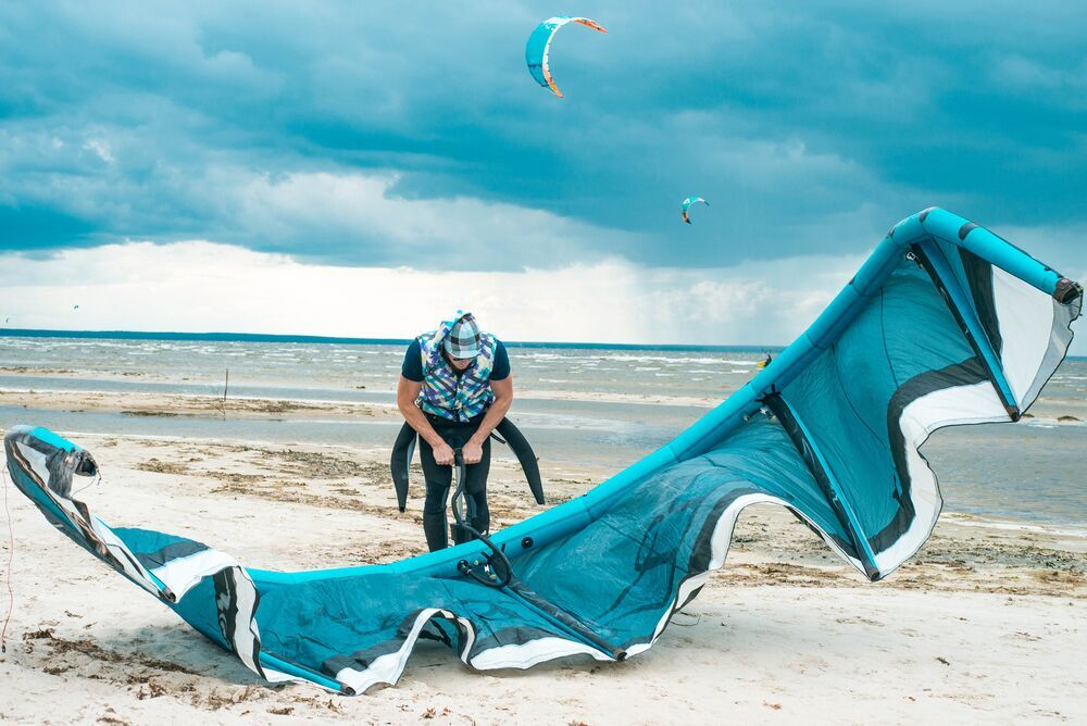 Kite surfing Camber