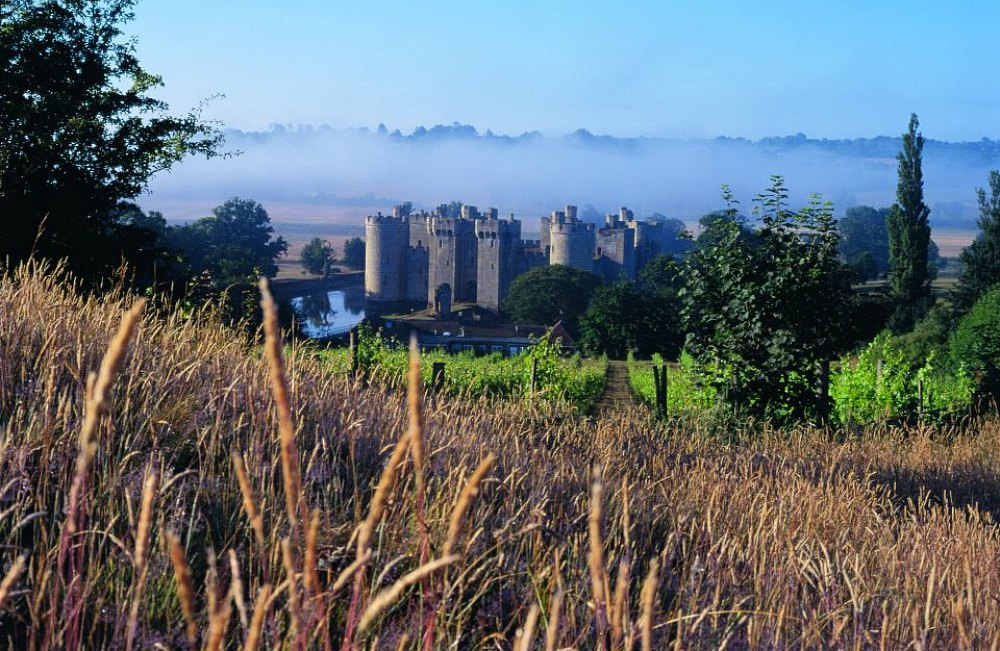 view of bodiam castle