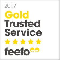 2017 Gold Trusted Service Feefo Award