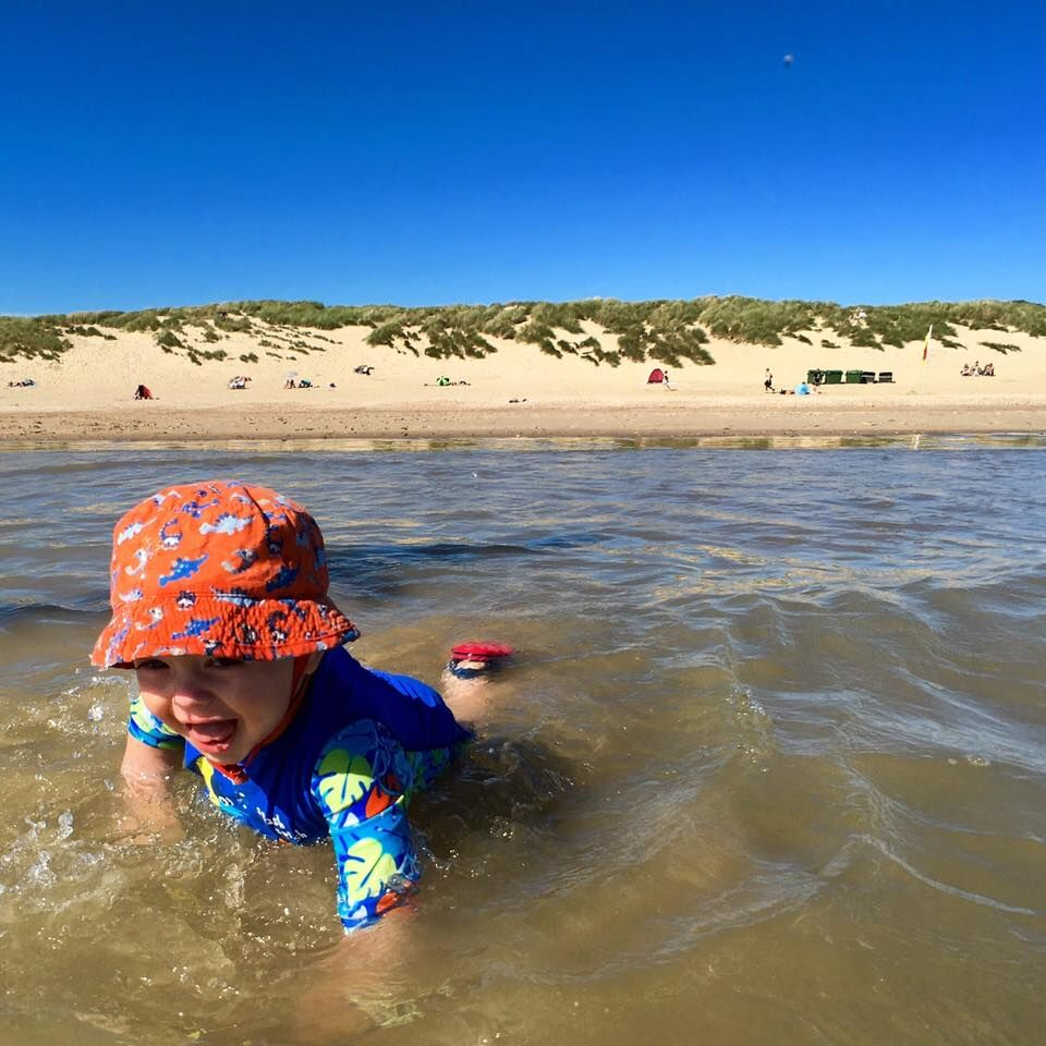 toddler fun at camber sands