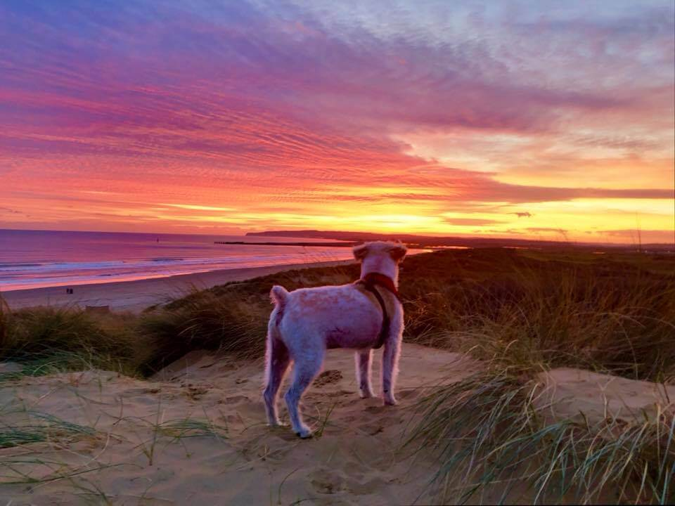 Catching the sunrise is one thing to do in Camber Sands to start your day off right