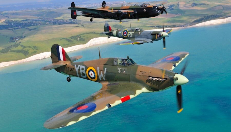 hurricane spitfire lancaster