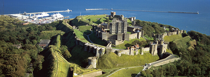 Dover Castle, a famous castle in England