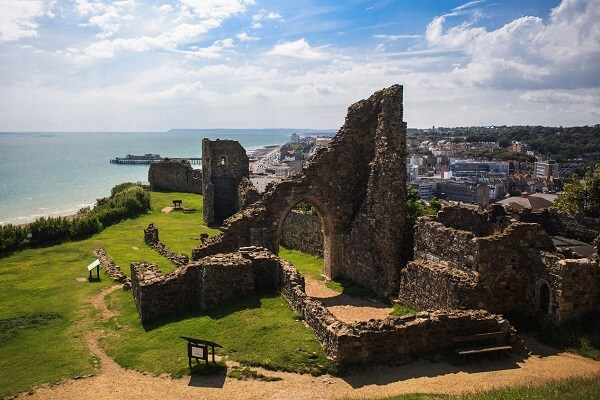 Hastings Castle, a famous castle in England