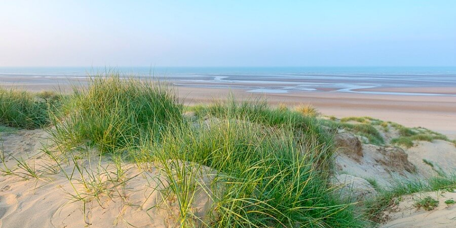 Summertime beach at Camber Sands