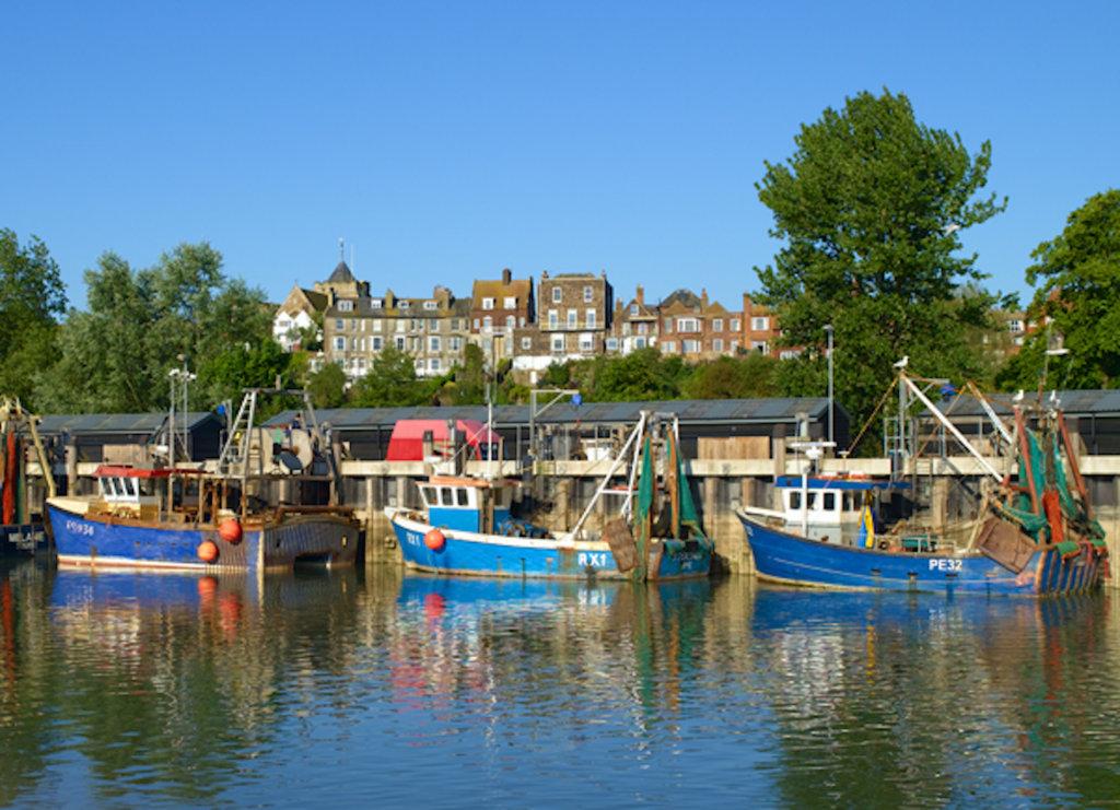 fishing boats in Rye