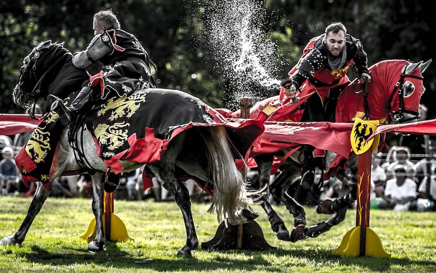 England's Medieval Festival jousting