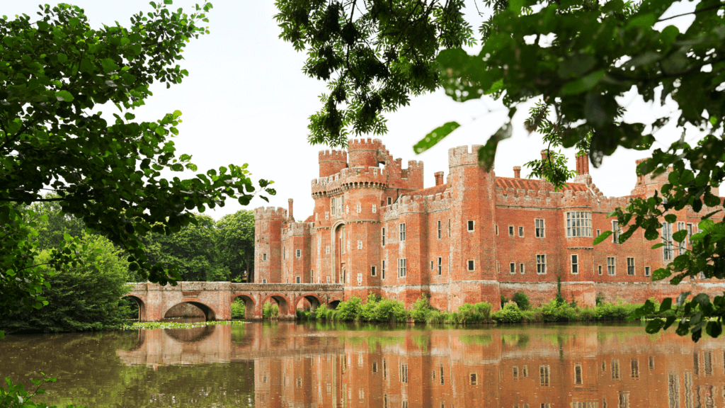 Herstmonceux Castle is one of England's oldest brick buildings