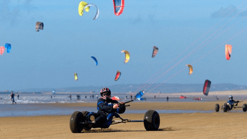 Kite buggy Camber Sands