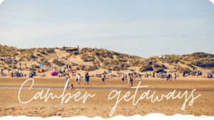Camber Sands beach is where many of the best Camber getaways are spent