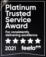 2021 Platinum Trusted Service Feefo Award Image